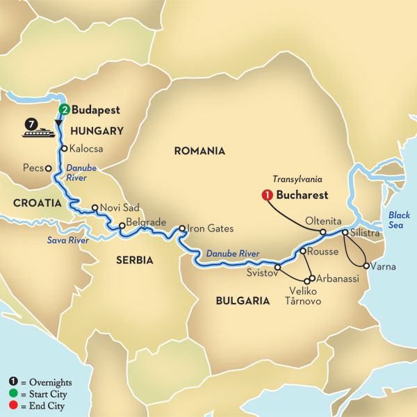 Balkan Discovery - Budapest to Bucharest