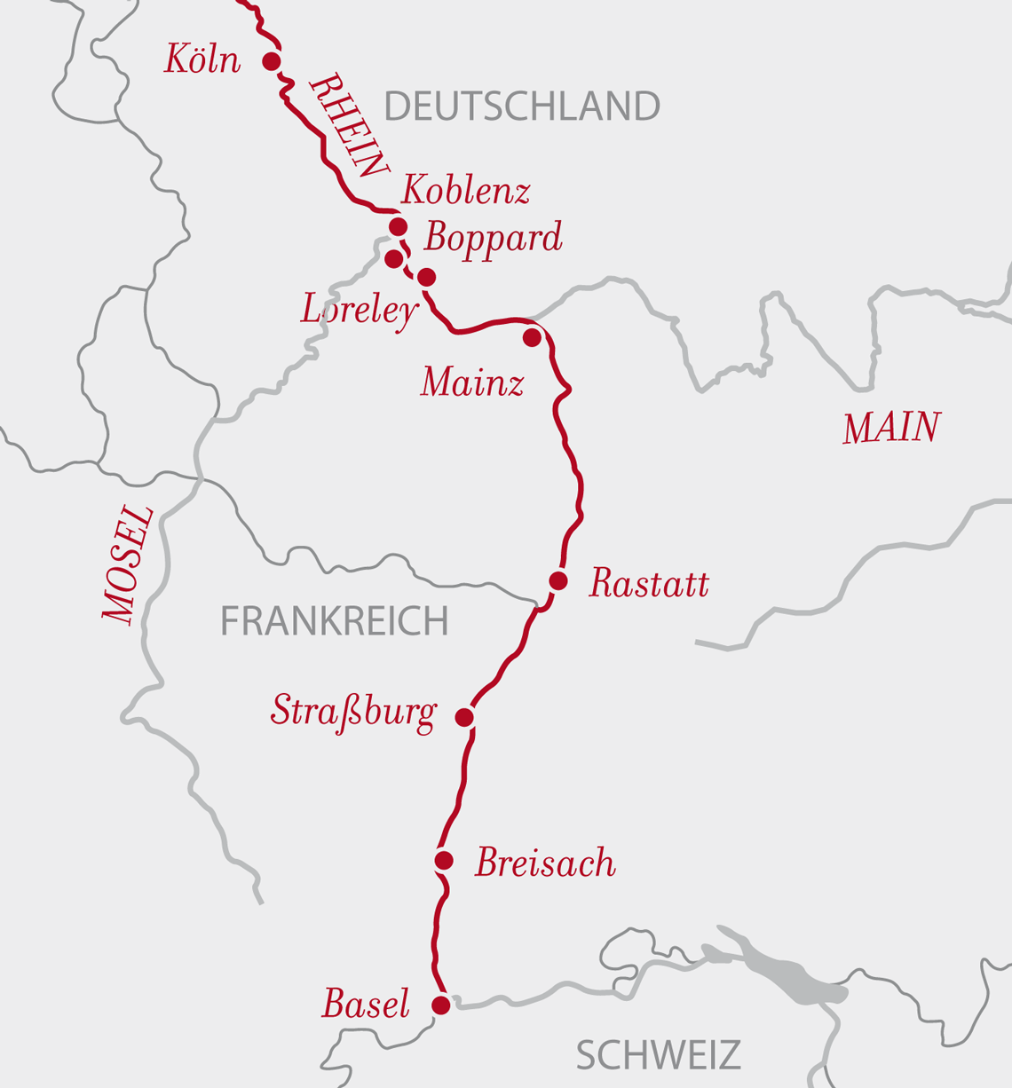 AROSA Southern Rhine map