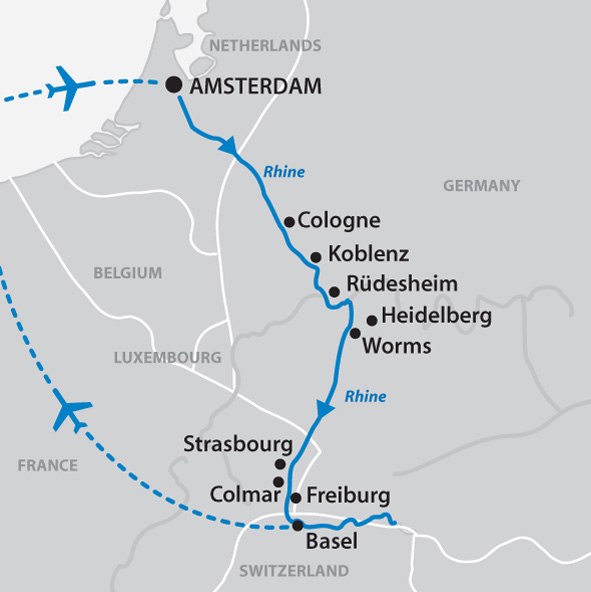 Ama River Cruises >> The Enchanting Rhine - 12 days Amsterdam to Zurich (or reverse)