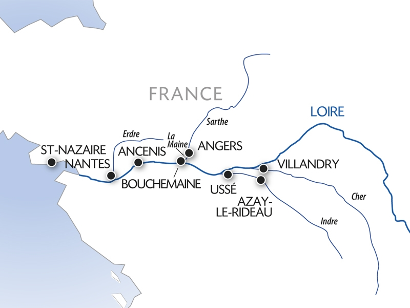 Loire cruise map