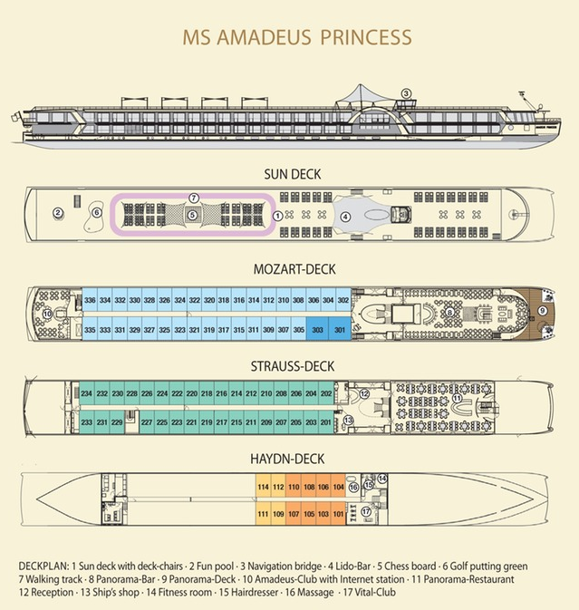 Amadeus Princess deck plan