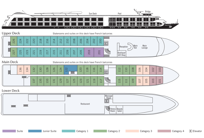 Douro Queen Deck plan