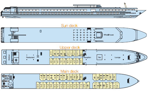 MS Sainte Odile deck plan
